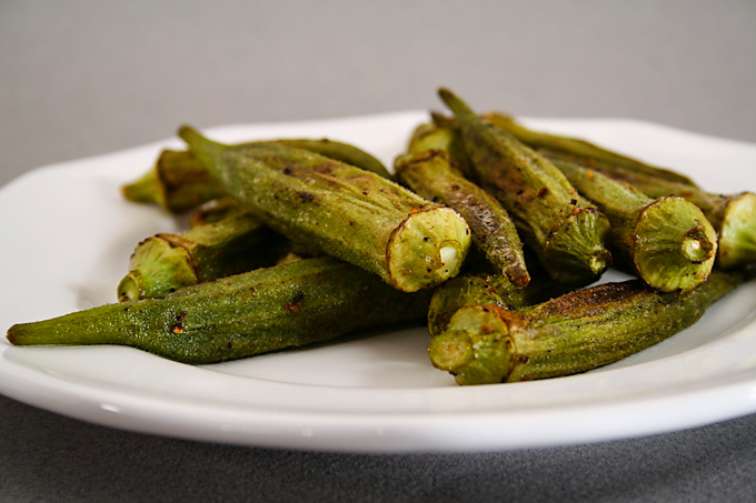 Roasted Okra Fatfree Vegan Kitchen