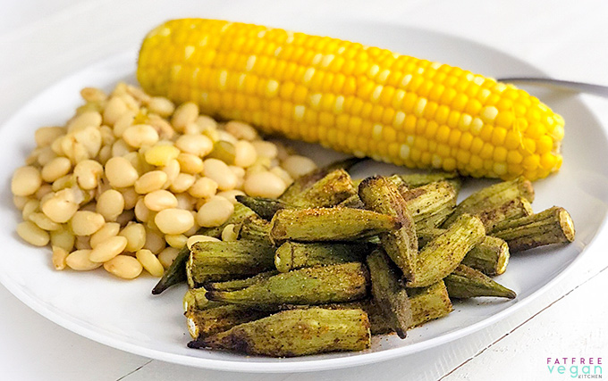 Roasted Okra from the Air Fryer