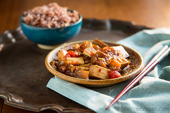 Eggplant and Tofu with Spicy Garlic Sauce