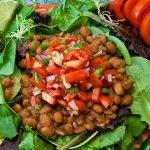 Taco Salad with Homemade Chili Pinto Beans