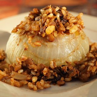 Vidalia Onions Stuffed with Rice-Lentil Pilaf