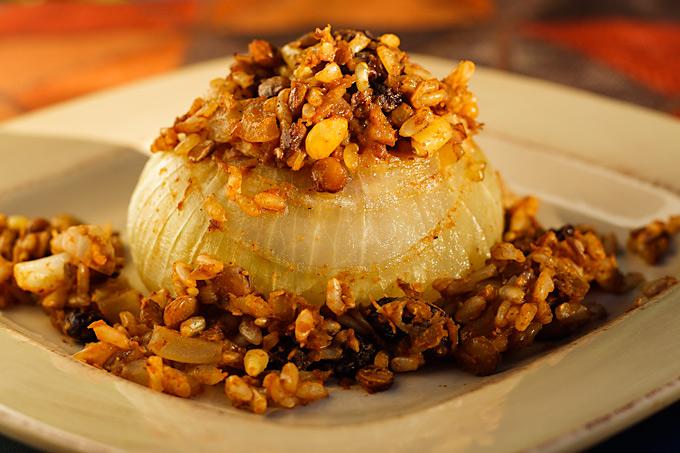 Vidalia Onions Stuffed with Rice-Lentil Pilaf