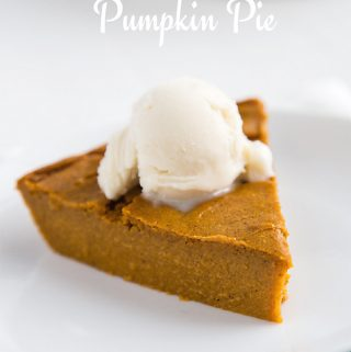Impossible Vegan Pumpkin Pie: This pie magically creates its own crust! Low-fat, vegan, and gluten-free.