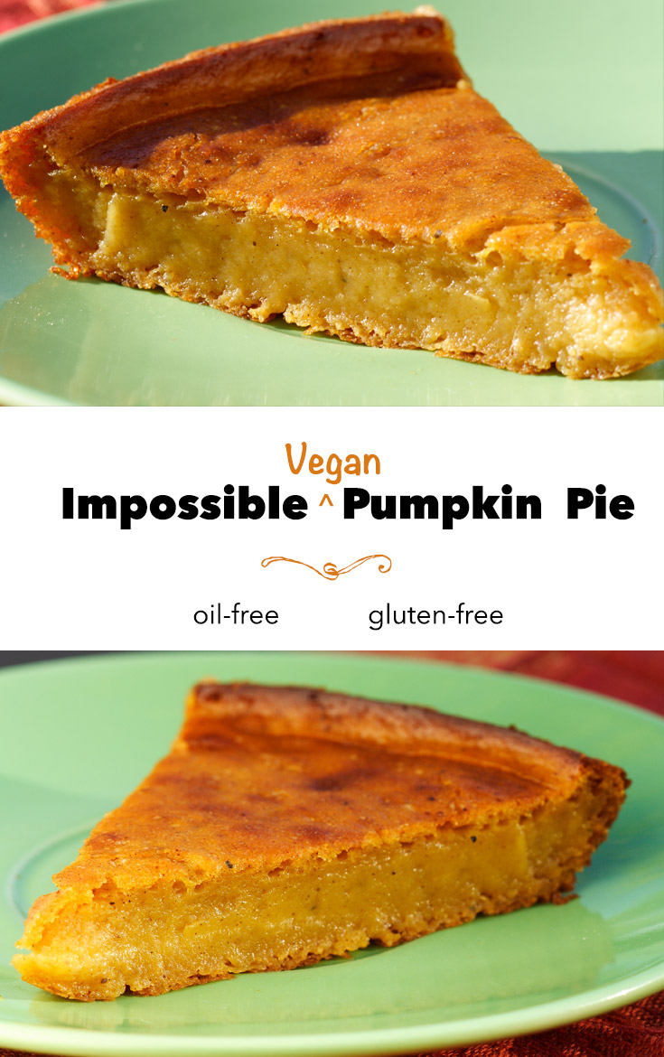 This gluten-free, vegan pumpkin pie magically forms its own crust. It's naturally low-fat, too!