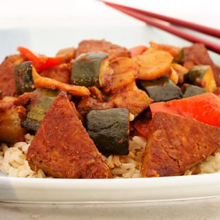 Chinese Barbecued Tofu and Vegetables