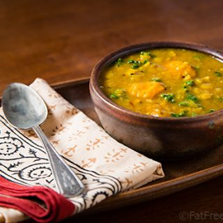 Yellow Split Pea Soup with Sweet Potatoes and Kale