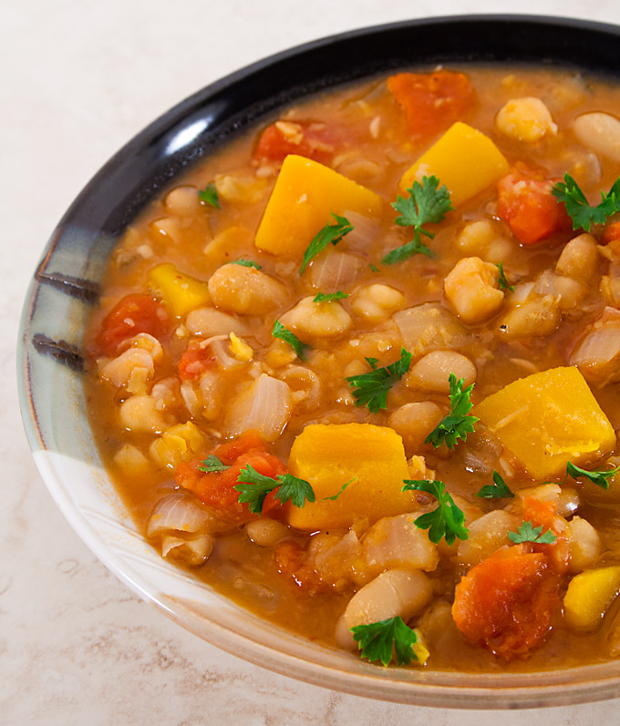 Tunisian Bean and Chickpea Stew