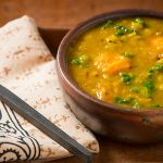 Yellow Split Pea Soup with Sweet Potato and Kale
