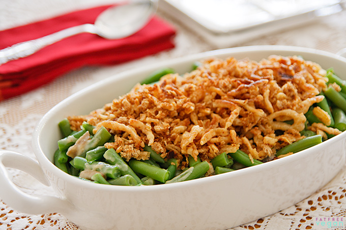 The Best Vegan Green Bean Casserole