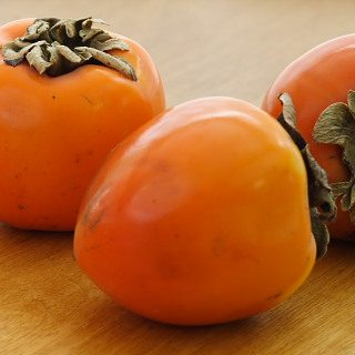 Persimmons and Frozen Persimmon Sorbet