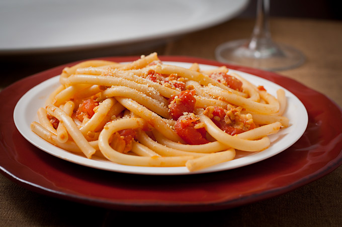 Vegan Bucatini all'Amatriciana