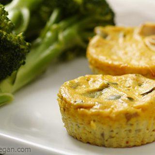 Mini Crustless Tofu Quiches
