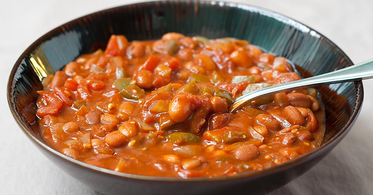 Thick And Hearty Pinto Bean Chili Fatfree Vegan Kitchen