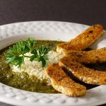 Gumbo z'Herbes with Cajun Tempeh Bacon