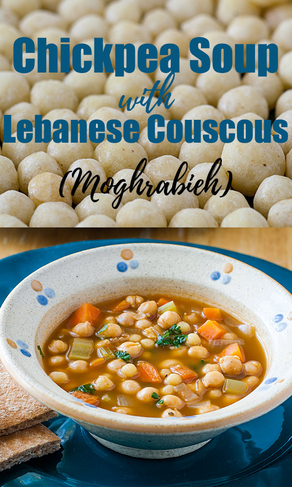 Chickpea Soup With Moghrabieh Lebanese Couscous