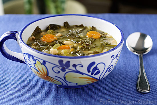 Collard Greens and White Beans Soup