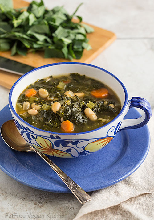 Collard Greens And White Bean Soup Recipe From Fatfree Vegan Kitchen