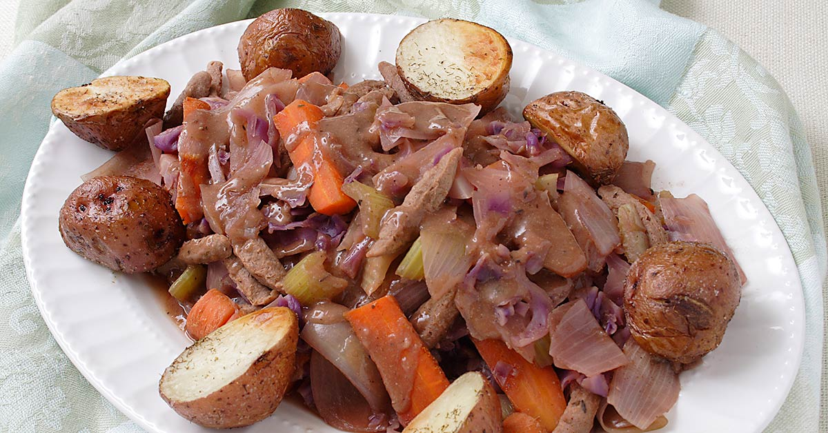 Vegan Corned Beef And Cabbage Roasted Potatoes And Soda Bread Fatfree Vegan Kitchen