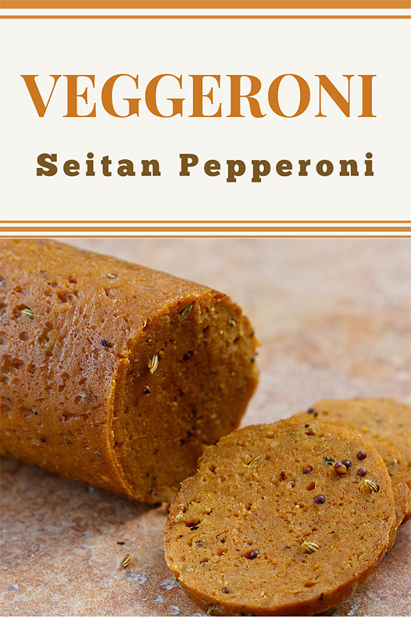 Veggeroni (Seitan Pepperoni): It's much easier than you think to make vegan pepperoni and other types of vegan sausages using vital wheat gluten and seasonings. #vegan