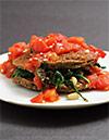 Thumbnail image for Eggplant Pancakes Florentine