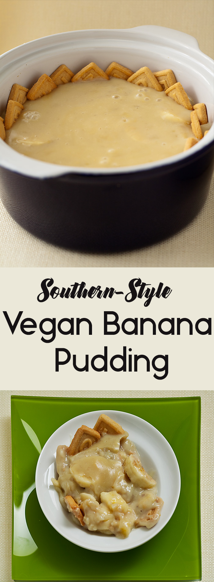 This vegan banana pudding is made the Southern way, with a crust of vanilla cookies. Make it with sugar, stevia, or your choice of low-calorie sweetener.