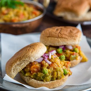 Dal Bhaji (Curried Lentil and Vegetable Sandwiches)