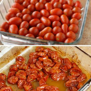 Bruschetta with Roasted Baby Tomatoes