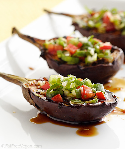 Grilled Baby Eggplants with Korean Barbecue Sauce | Recipe