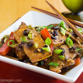 Homestyle Tofu with Shiitake Mushrooms and Black Bean Sauce