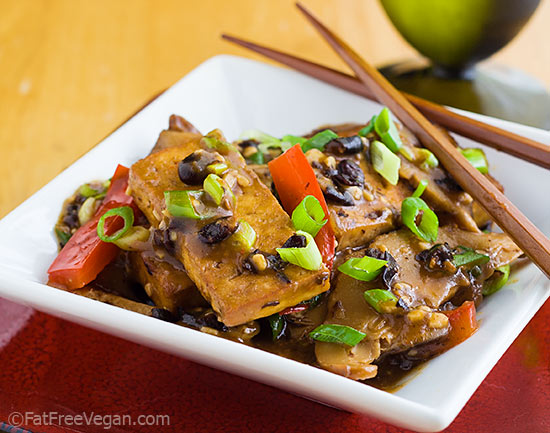 Home style tofu with shiitake mushrooms recipe from fatfree vegan homestyle tofu with shiitake mushrooms and black bean sauce forumfinder Gallery