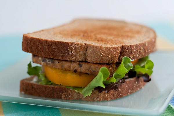 Tempeh Bacon Lettuce and Tomato Sandwich