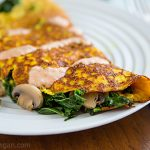Tofu Omelet with Kale and Mushrooms