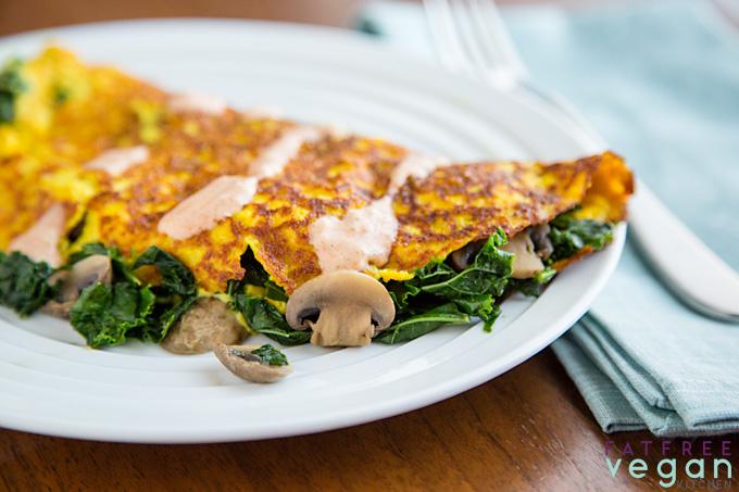 Vegan Tofu Omelet for One