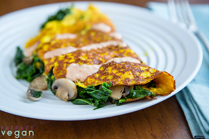 Vegan Tofu Omelet for One