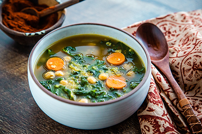 North African Chickpea and Kale Soup