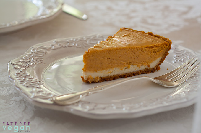Vegan Double-Layer Pumpkin Cheesecake