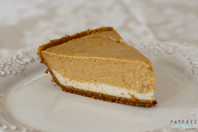 Vegan Double Layer Pumpkin Cheesecake