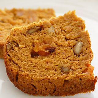 Sliced Vegan Persimmon Bread