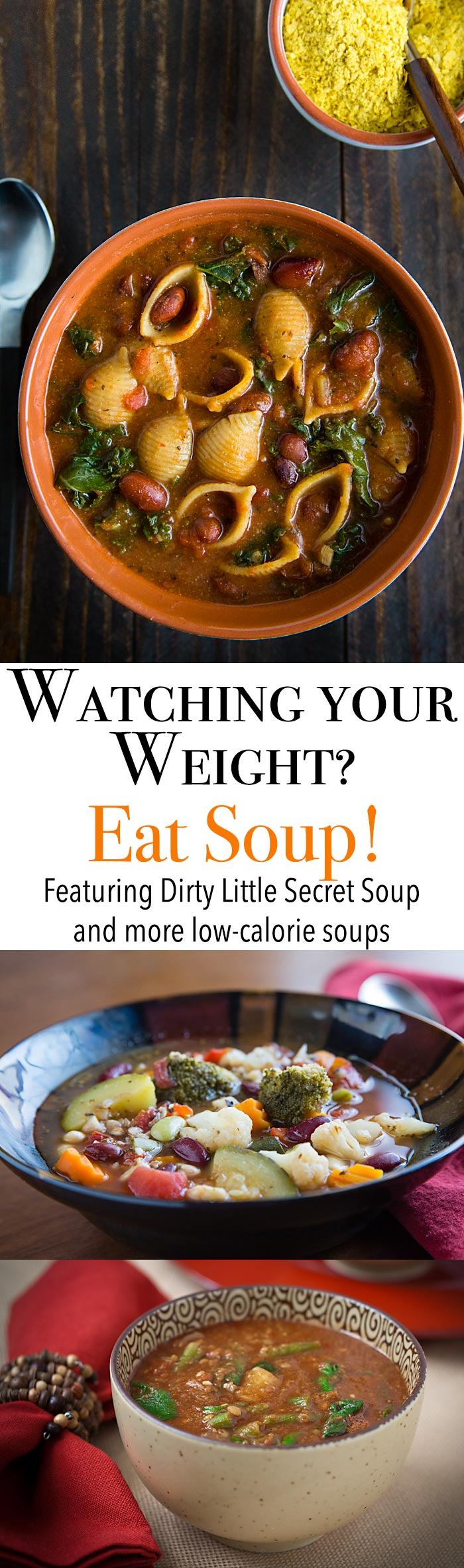 Find out why beginning your meal with soup will help you lose weight and find the recipe for these great low-calorie vegan soups.