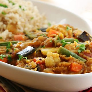 Red Lentil Sambar from Vegan Fire and Spice