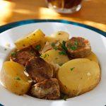 Dublin Coddle with Vegan Irish Sausage
