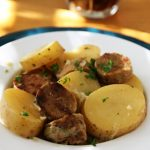 Dublin Coddle with Vegan Irish Sausage