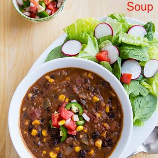 Vegan Smoky Refried Bean Soup