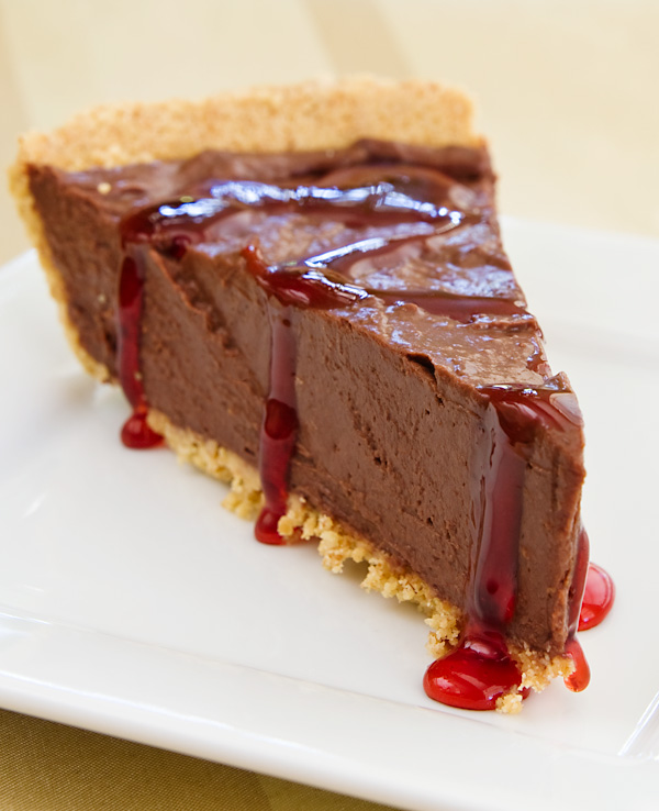 Vegan Chocolate Cherry Mousse Pie