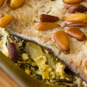 Spinach-Matzo Pie
