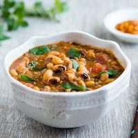 Spicy Collards and Black-eyed Pea Soup