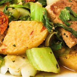 Polenta and Tofu Skillet