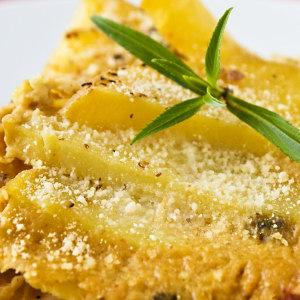 Golden Potato and Tempeh Casserole