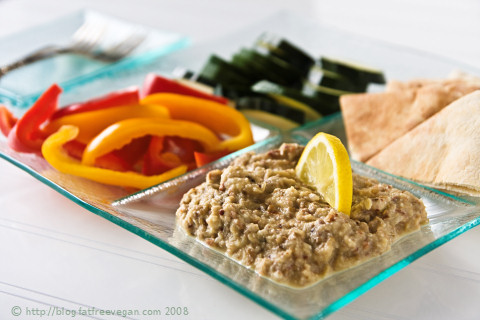 Roasted Eggplant Almond Dip