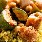 Roasted Vegetables with Tomato Charmoula and Quinoa